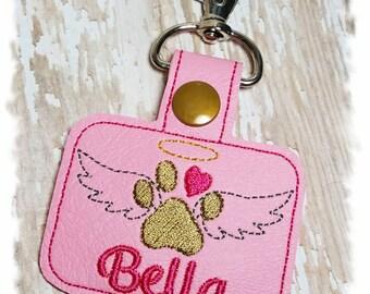 Pet Memorial Keychain, Pet Loss Keychain, PERSONALIZED Pet Memorial Key Fob, Dog Memorial Gift, In Memory of Dog, Angel Dog, Dog Keepsake