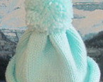KBC 006 Hand knit baby cap 0 to 3 months