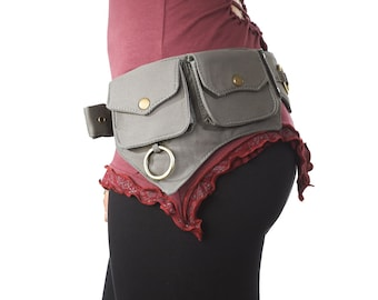 Utility Belt,Festival,Fanny Pack,Waist Pouch,Holster Bag Festival Belt.Travel Money Belt,Hip Belt,Burning Man,Steampunk.Fits iPhone/SAMSUNG