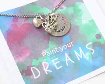 Personalized Artist Gift, Sketch Artist Gifts, Artist Graduation Gift, Gift for Artist Girlfriend, Artist Necklace, Gift for Painter,