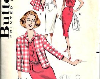 1960s Wiggle Dress and Jacket Butterick Pattern 9235   Size 12