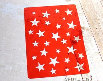Stars Stencil for mixmedia scrapbooking