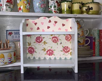 Handcrafted Wooden Shelf Unit Freestanding Wall Made Using Emma Bridgewater Designs Farrow & Ball Kitchen Bedroom Shabby Chic Home Vintage