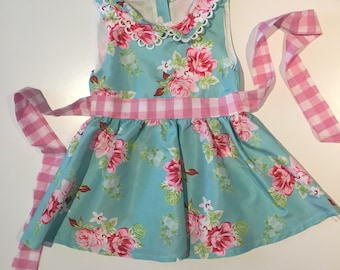Baby Girls floral gingham dress