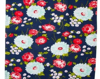 The Good Life Navy Flowers TOWLELING by Bonnie & Camille for Moda Fabrics