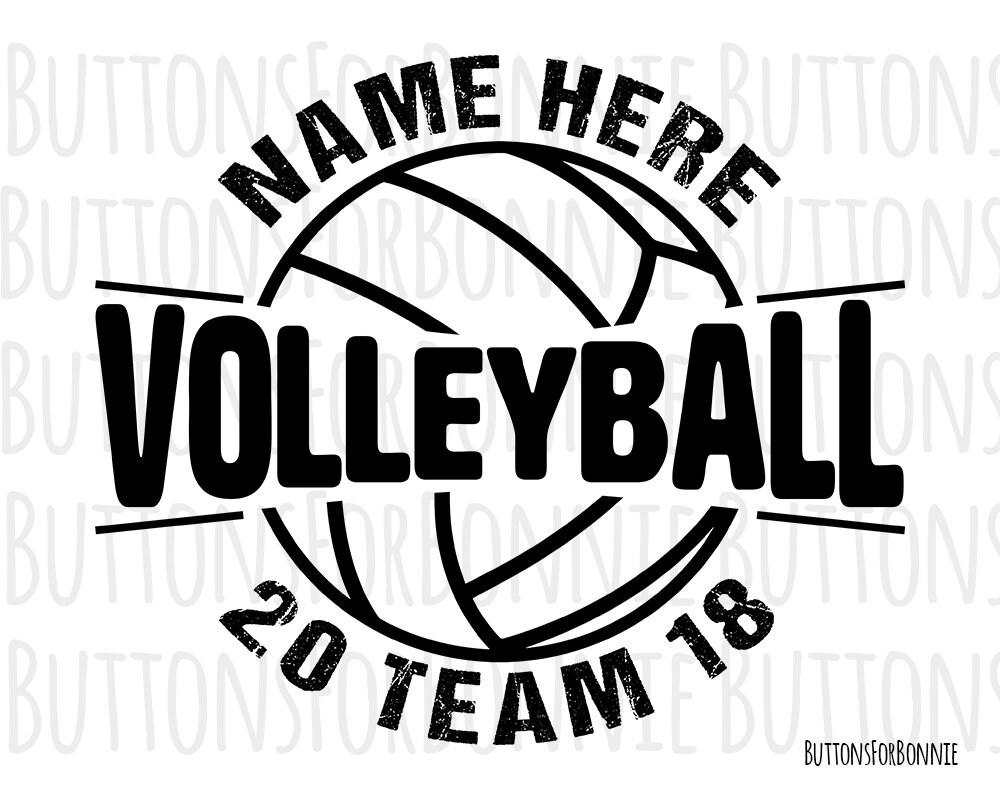 Volleyball Svg volleyball vector volleyball emblem