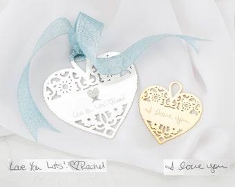 Custom Christmas Ornaments • Handwriting Personalized Love Ornaments • Personalized Keepsake Gift • Memorial Gift • VALENTINES GIFTS • CM23