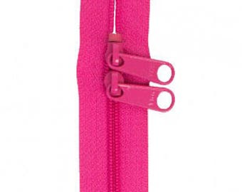 "40"" Double Slide Handbag Zipper by Annie - Color RASPBERRY"