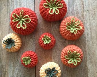 Handmade Crochet Pumpkins / Autumn Decor / Fall Decor / Wedding / Home Decor / Pumpkins / Orange