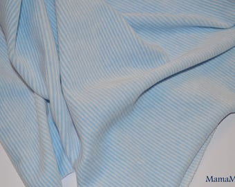 "White Velvet Baby Blue quality striped ""Petit Bateau"""