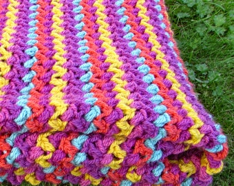 Crochet lap blanket - crochet afghan - crochet gift - crochet throw - crochet blanket kit - crochet present - gift for crocheters - lapghan