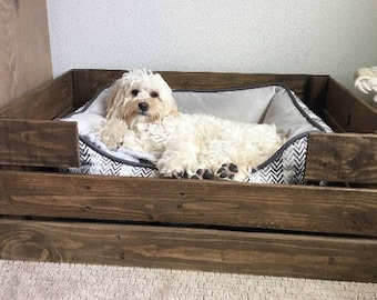 Reclaimed Wood Dog Pet Bed-Dog crate-Recycled Dog Bed-Dog Bed-Christmas Gift-Pet Gift-Medium size/Dogs-Handmade in the USA