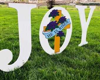 JOY Nativity Outdoor Holiday Christmas Yard Art Sign, Christmas Decoration
