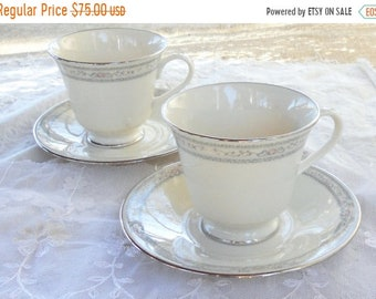 ON SALE Vintage Lenox Charleston Teacup and Saucer, Set of 2, Hollywood Regency, Replacement China