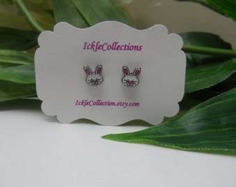 Rabbit magnetic Earrings, girls Earrings, rabbit studs , girls birthday gift, magnetic earrings, stud earrings