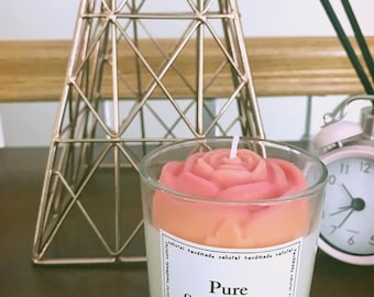Flower soy candle // design candle