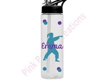 Karate Girl Water Bottle, Karate, Martial Arts