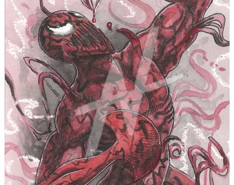 Carnage Watercolor Painting
