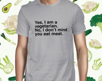 Animal Lover Men's T-shirt - Pun Vegetarian Shirt for Men - Funny Vegan Statement T Shirt - Men's Plant-based Tee Shirt - Animal Rights Tee