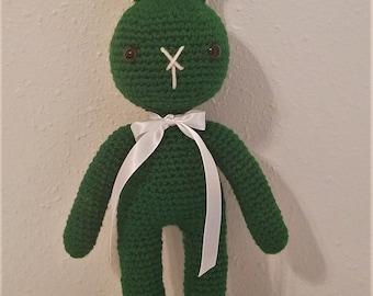 Green Crochet Bunny