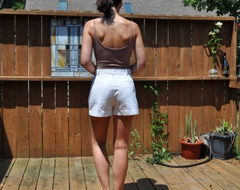 Vintage GAP White Cotton Chino Shorts Sz 6