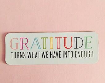 Gratitude Quote Magnet