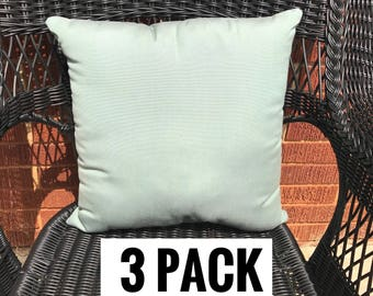 3 Pack of Sunbrella Canvas Spa Pillow Water Resistant