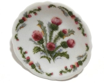 Tiny Scottish Thistle Plate