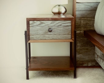 Black Walnut + Reclaimed Wood Side Tables // Night Stands //