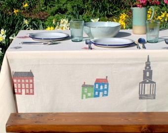 Berwick Tablecloth Blue/Green/Grey