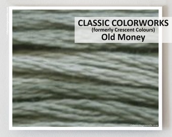 OLD MONEY Classic Colorworks hand-dyed embroidery floss cross stitch thread at thecottageneedle.com
