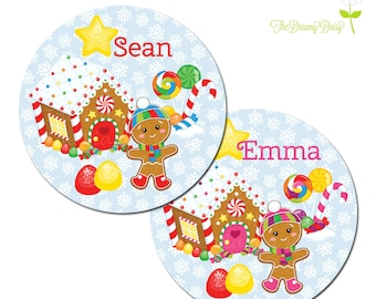 Personalized Christmas Plate for Kids - Gingerbread House Plate - Personalized Plate for Christmas - Holiday Plate for Kids