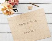 40 pc Wedding Guest Book Puzzle, custom guestbook alternative, WOOD puzzle guest book, Bella Puzzles™, rustic wedding, boho wedding