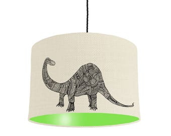 Dinosaur lamp shade etsy dinosaur lampshade with a choice of 22 lining colours and multiple sizes mozeypictures Gallery