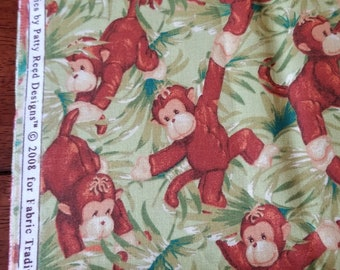 Material, Jungle Babies by Fabric Traditions