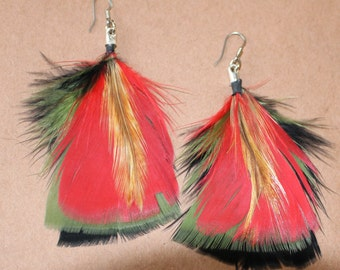 FEATHER Earrings -- Bird, Native American, Southwest - Style 27