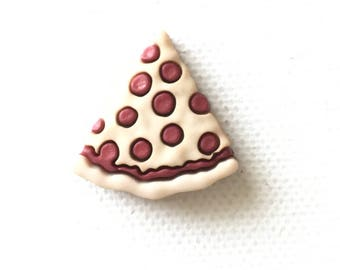 Pizza Pin, Pizza Tie Tack, Pizza Lapel Pin, Pizza Slice Pin, Pizza Slice Tie Tack, Miniature Food Jewelry, Pepperoni Pizza, Pizza Pie, Food