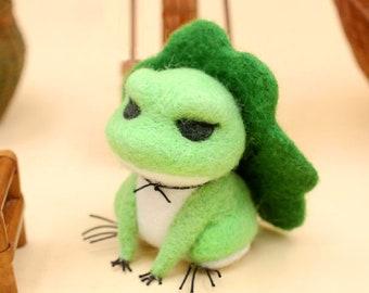 "Frog Needle Felting Kits 4"" - Needles, Finger Guards, Foam Mat, Instructions"