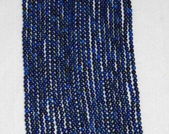 Lapis, Lapis Smooth Bead, Lapis Bead, Natural Stone, Semi Precious, Gemstone Bead, Strand, 4mm