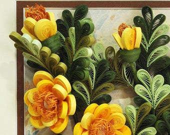 "Quilling Paper Art Quilling Art - ""Spring"". Handmade Dekor Gift Quilling Picture Paper art Design"