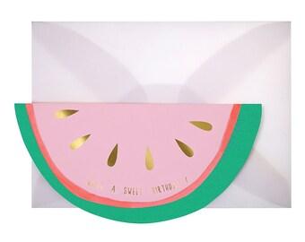 Watermelon Happy Birthday Card