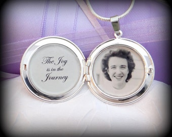 The Joy is in the Journey - 2 Photos Vintage Locket Necklace