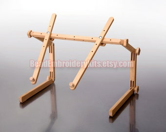 Universal stand rack solid wood frame holder for tapestry cross stitch embroidery made of wood