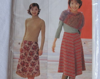 SKIRT -- Japanese sewing pattern, womens,  misses   4867 -- Japan --UNCUT