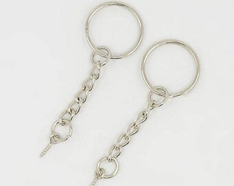 DOUBLE SET OF 10 RINGS + 20 X 6 NEW KEY CHAIN