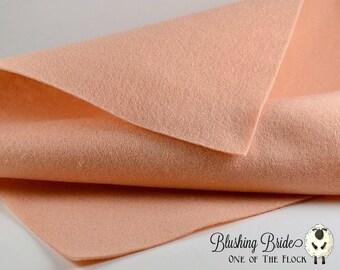 Blushing Bride Wool Felt, Merino Wool Blend Felt, Wool Blend Felt Fabric, Wool Felt Yardage, Wool Felt Fabric, Pink Felt Yardage