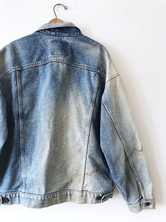 Beat STRAUSS X 80's LEVI Large Size Distressed Dirty Hell Jacket to Red Vintage Denim Tab xqEXaXO
