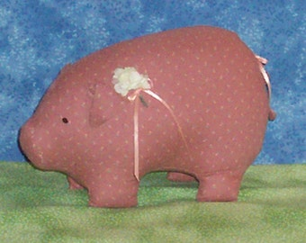 Pretty Stuffed Pig - Decoration, Hostess Gift, Birthday, Addition to Your Collection!