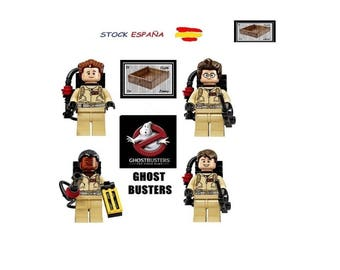 Pack 4 minifigure Ghostbusters compatible lego Superheroes