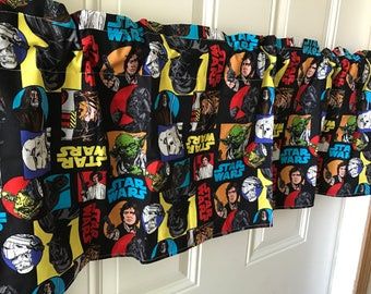 Star Wars Glow characters patchwork curtain valance